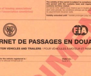Le carnet de passage en douane, un document indispensable pour un road trip à moto.